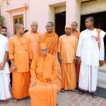 Swami Shivamayanandaji at Ramakrishna Mission Ashrama Kanpur