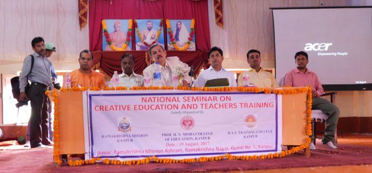 National Seminar on Creative Education and Teachers' Training – 19 Aug 2017