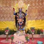 Mother Kali at Sri Sri Kali Puja at Ramakrishna Mission Ashrama, Kanpur