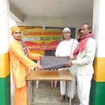 Blanket distribution - Winter Relief at Naubasta village, Unnao, Uttar Pradesh.