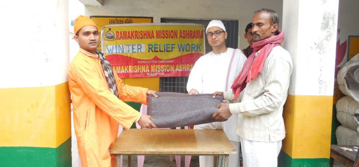 Blankets distribution at Naubasta, Unnao – 4 Dec 2017
